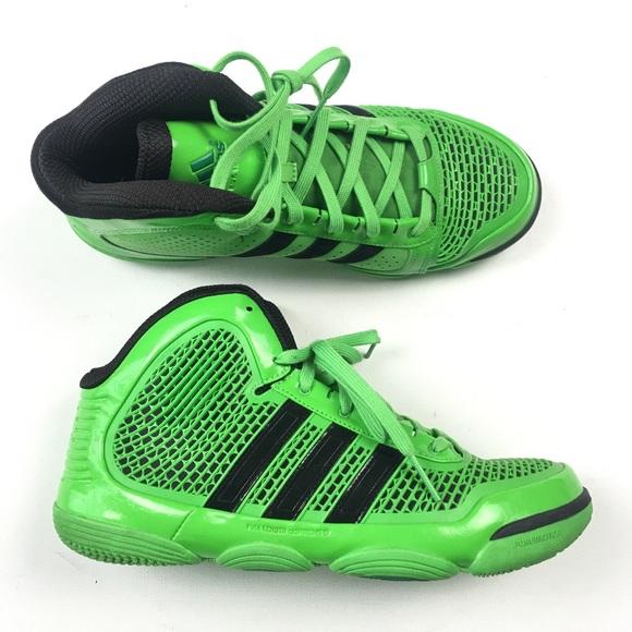 6d3f76306d59 Adidas Lime Green Mens Basketball Shoe 11 A43